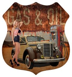 Shield Gas Oil - Pin Up