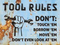 Tool Rules - blue rust