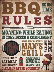 BBQ Rules - grunge