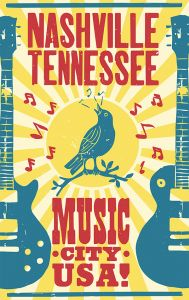 Nashville Music City - Blue Bird - XL