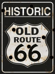 Historic Old Route 66 - bullets