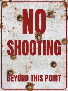 No Shooting - bullets