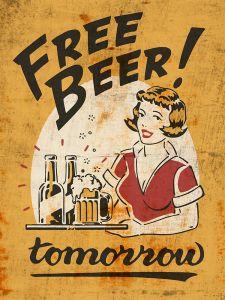 Free Beer Tomorrow - yellow grunge