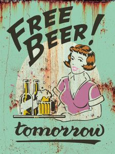 Free Beer Tomorrow - green rust
