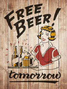 Free Beer Tomorrow - woodlook