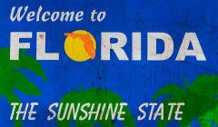 Welcome in Florida - grunge