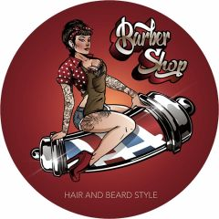 Barbershop Pin Up - 60 cm rond