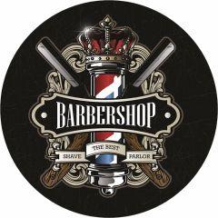 Barbershop Shave Parlor - 35 cm rond