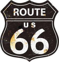 Shield - Route 66 Black