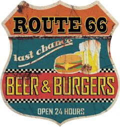Shield - Route 66 Beer Burgers
