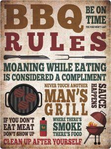 BBQ Rules Grunge