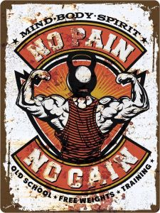 Fitness No Pain No Gain XL