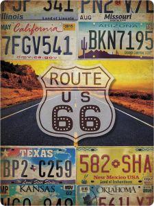 Route 66 License Plates XL
