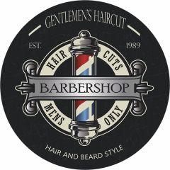 Barbershop Gentlemen - 35 cm rond