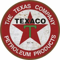Texaco logo - 35 cm rond