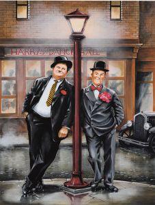 Laurel & Hardy - Harry's Dance Hall - Plexiglas