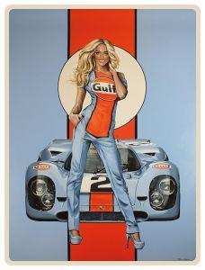 Gulf Racing - Pin Up