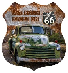 Shield - Car Green  Kicks on Route 66