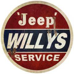 Jeep Willys Service - round XL