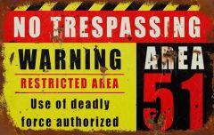 Area 51 - No Trespassing