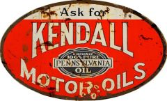 Kendall Motor Oils - oval
