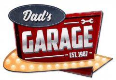 Dad's Garage - arrow