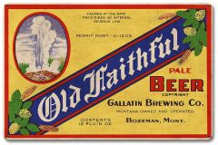 Old Faithfull Beer