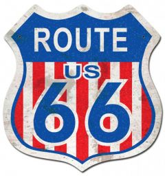 Route 66 Red White Blue