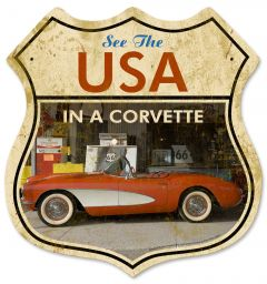 USA in a Corvette