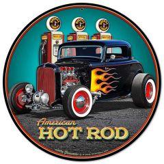 Hot Rod at Gaspumps - round