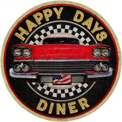 Happy Days Diner - grunge - small