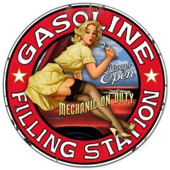 Gasoline Filling Station - Pin Up