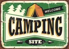 Retro-Sign - Adventure - Camping