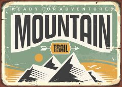 Retro-Sign - Adventure - Mountain
