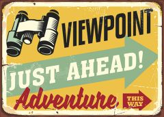 Retro-Sign - Adventure - Viewpoint