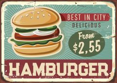 Retro-Sign - American Diner - Hamburger