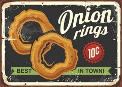 Retro-Sign - American Diner - Onion Rings