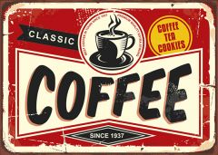 Retro-Sign - American Diner - Coffee