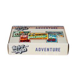 ADVENTURE Retro Box - set van 5 signs