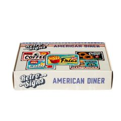AMERICAN DINER Retro Box - set van 5 signs