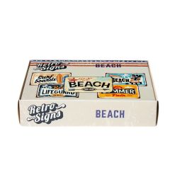 BEACH Retro Box - set van 5 signs
