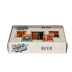 BEER Retro Box - set van 5 signs