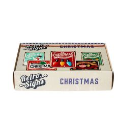 CHRISTMAS Retro Box - set van 5 signs