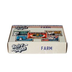 FARM Retro Box - set van 5 signs