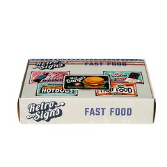 FAST FOOD Retro Box - set van 5 signs