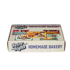 HOMEMADE BAKERY Retro Box - set van 5 signs