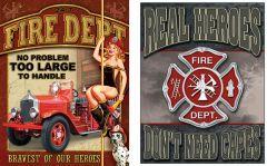 Firemen- Set van 2 Signs