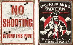 No-Shooting + One Eyed Jacks - Set van 2 Signs