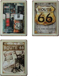 Route 66 - Set van 3 Signs