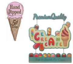 Ice Cream - Set van 2 Signs